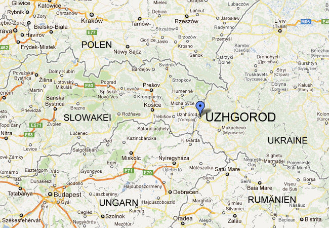Where Is Uzhgorod Logistics Center In UzhgorodUkraine - Uzhhorod map